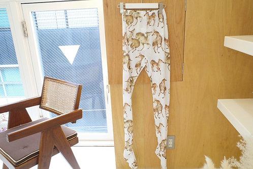 mini sika deer printed leggings