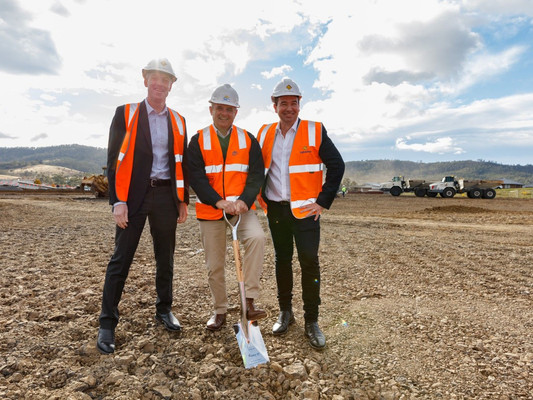 Soil-turning ceremony celebrates official start of construction