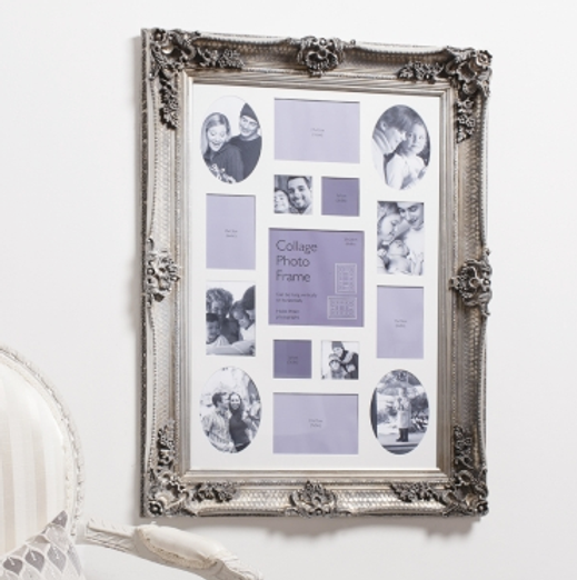 Abbey Collage Frame Silver 37 X 27 5