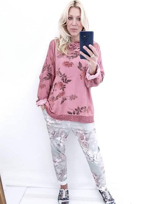 Helga May Berry  Pinstripe Maja Sweatshirt