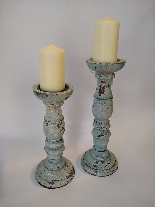 Wooden Candle Sticks - Large and Medium