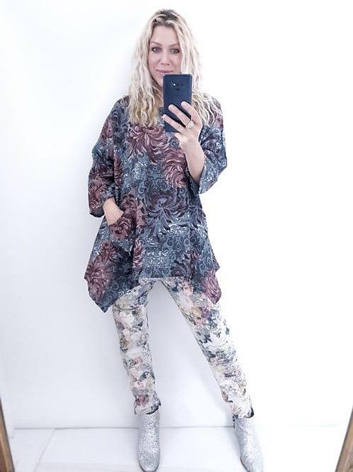 Helga May Winter Blossom Tunic - Grey