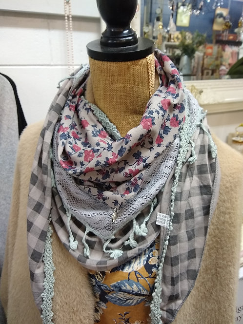 Hankerchief Scarf or Triangle Neck Scarf