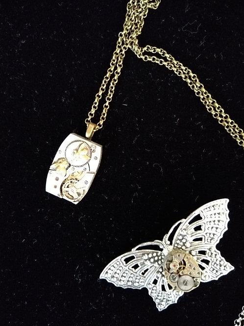 Butterfly Steam Punk Brooch