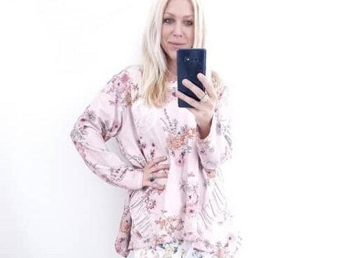 Helga May Baby Pink Potpourri Sweatshirt