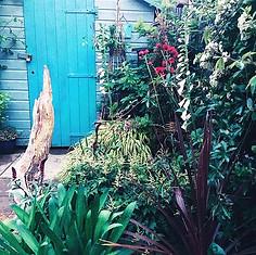 Cottage Garden Planting and Driftwood design