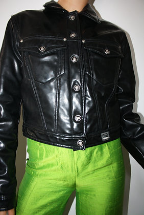 VERSACE black pvc jacket