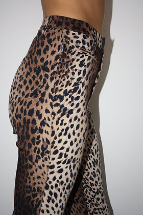 MOSCHINO leopard printed trousers