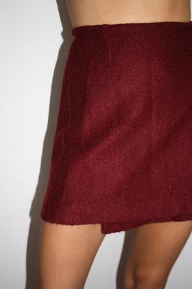 KENZO wool mini wrap skirt