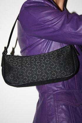 CELINE black monogram baguette bag