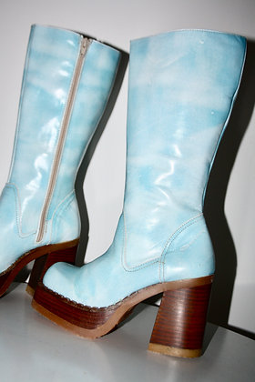 90s tie and dye platform boots