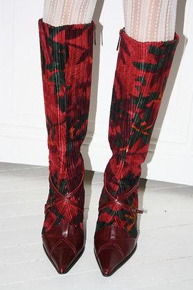 KENZO velvet high boots