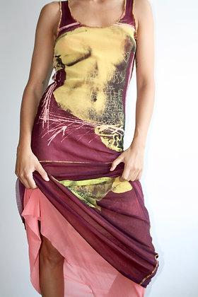 JEAN PAUL GAULTIER Venus De Milo mesh dress