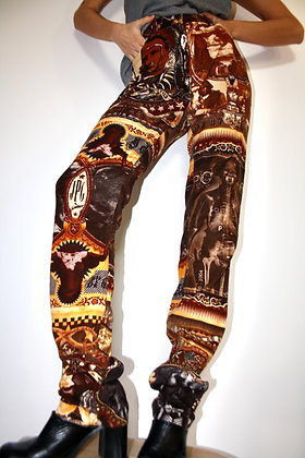 JEAN PAUL GAULTIER Native American Print trousers