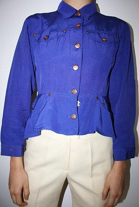 JEAN PAUL GAULTIER purple peplum jacket