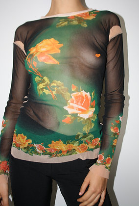 JEAN PAUL GAULTIER mesh top