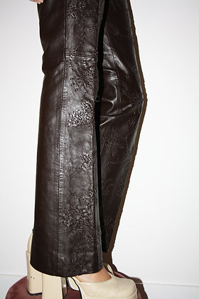 MOSCHINO leather trousers