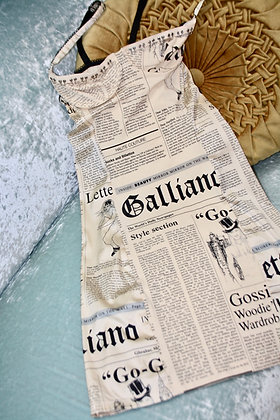 JOHN GALLIANO GAZETTE DRESS