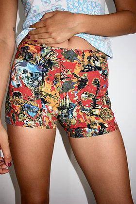 JEAN PAUL GAULTIER Basquiat print shorts