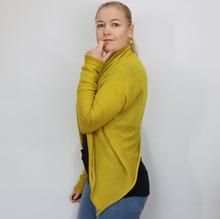 Op-ned-jakke ensfarvet