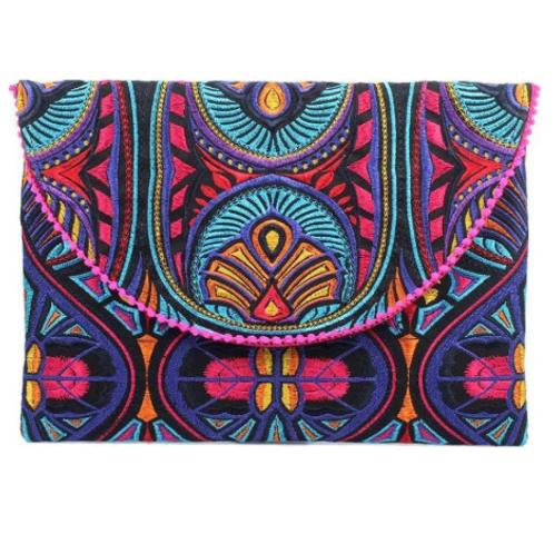 Multi-colored Tribal Clutch