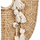 Thumbnail: Large Boho Woven Tote- Neutral Pom Poms