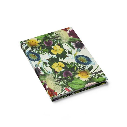 Vintage Botanical Collage Journal - Blank