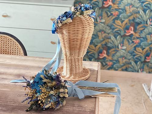 Semi corona ramo Blue Victoria