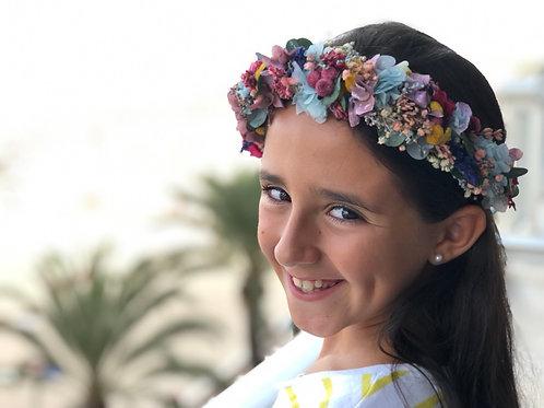 Semicorona Rosalía Beach niña