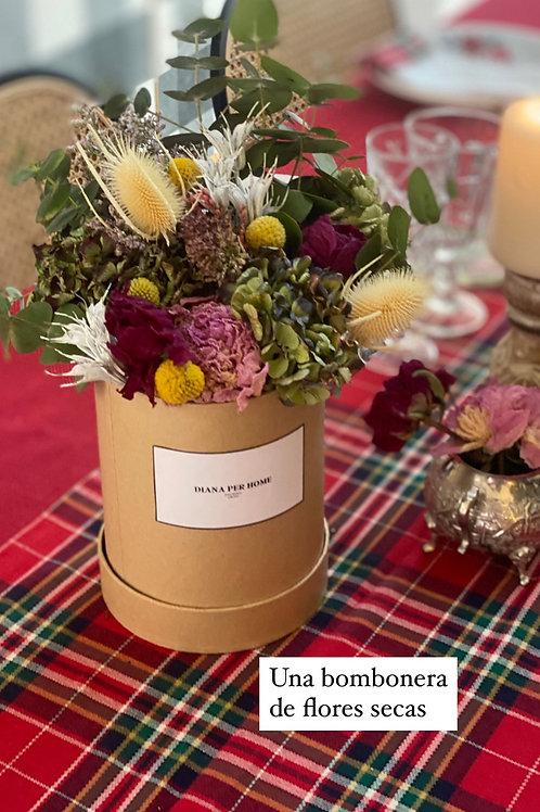 Bombonera de flores secas Tartán
