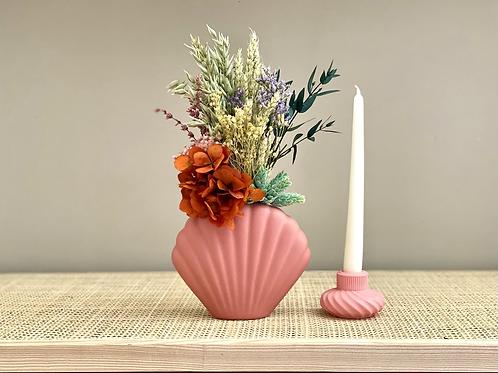 Porta velas Bell rosa Coral