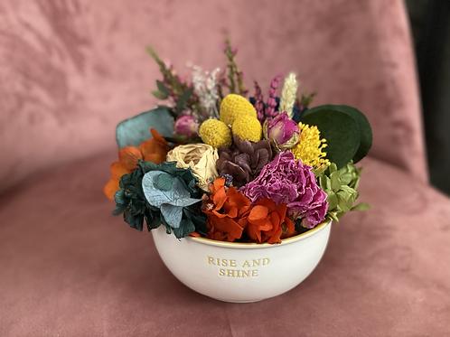 Cuenco de flores preservadas Rise and Shine