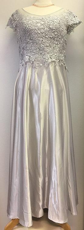 Satin Dress light gray