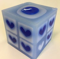 Blue square candle