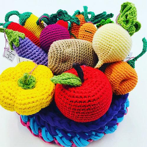 Virkattu hedelmia ja vihanes / crochet fruit & vegetables