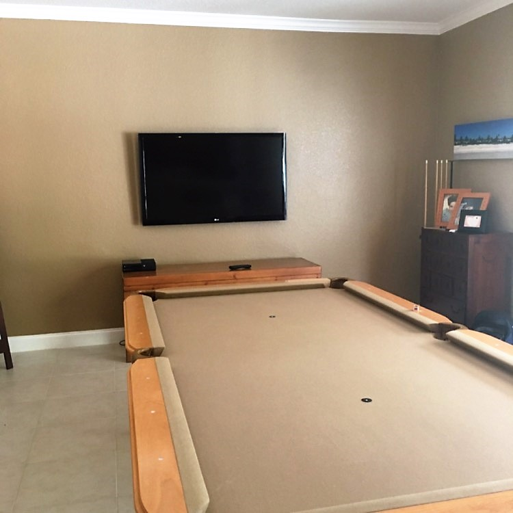 POOL TABLE TV PIC