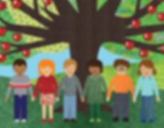 עץ תפוחים וילדים