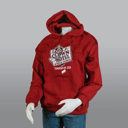 Hooded Sweatshirt - Dark Red