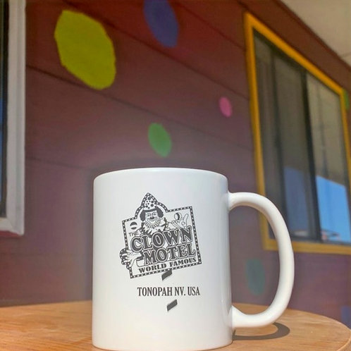 Clown Motel Mug -White