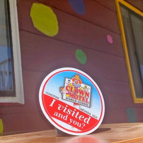 Clown Motel Sticker