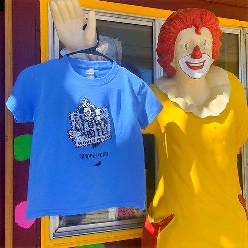 Clown Motel Youth T-Shirt, Blue