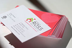 Colourful beautiful business card design after rebrand