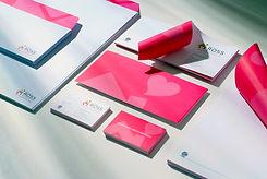 Rebranding business card design