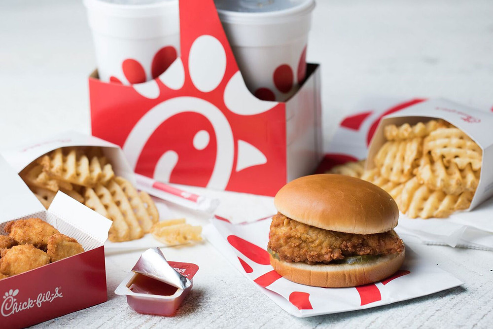 successful branding in a competitive market. successful fast food branding by Chick-fil-A