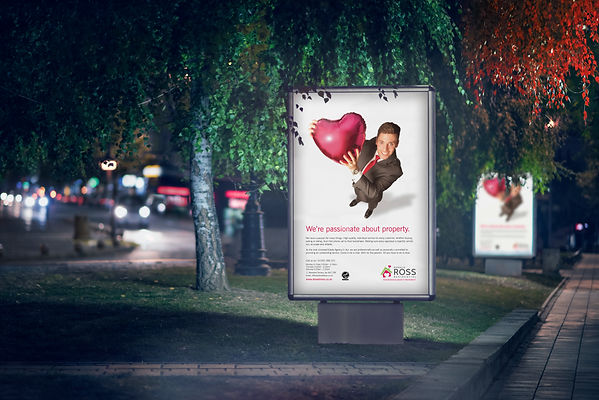 New outdoor advertising design after rebrand