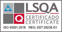 Horiz ISO 45001-2018 REG- SST 29238 -01.