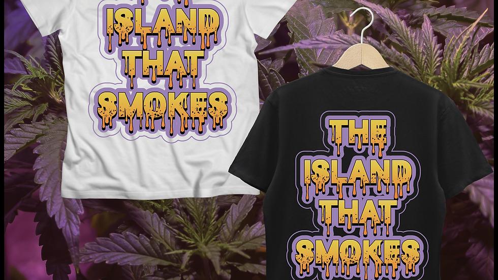 Teneweedfe T-Shirt -The Island That Smokes (Violet Drip)