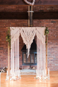 Wooden Macrame Arch