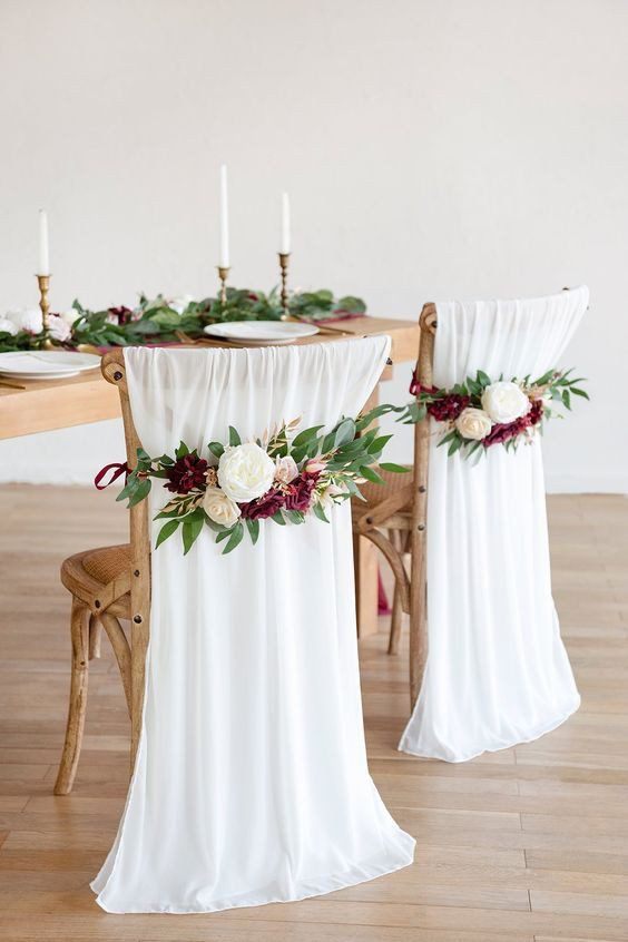 Fabric Draping with Floral Band