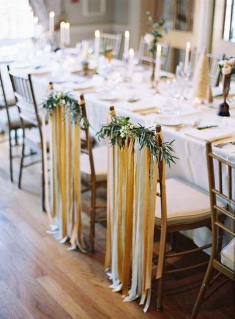 Ribbon Draping with Floral Band
